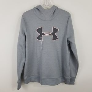Under Armour Gray Hodded Sweatshirt Coldgear L